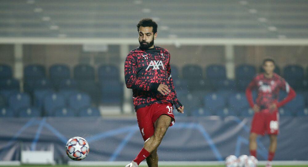 لاعب ليفربول الإنجليزي النجم المصري محمد صلاح