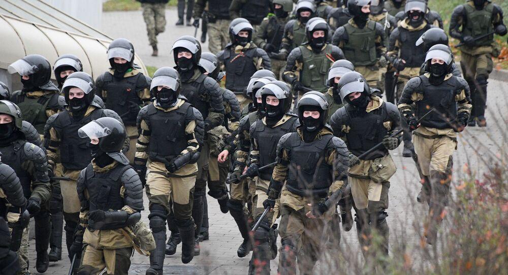 احتجاجات للمعارضة البيلاروسية (#أنا_سأخرج) في العاصمة مينسك، بيلاروسيا 15 نوفمبر 2020