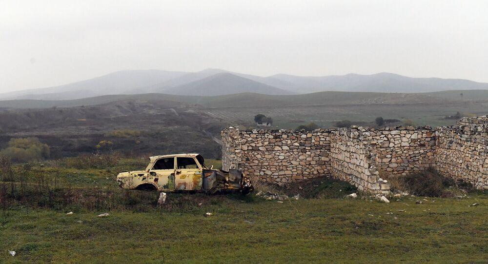 الأراضي التي خضعت لسيطرة أذربيجان بعد إنهاء الحرب الحرب مع أرمينيا في منطقة قره باغ، 18 نوفمبر 2020
