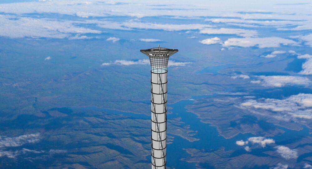 تصميم لمصعد الفضاء