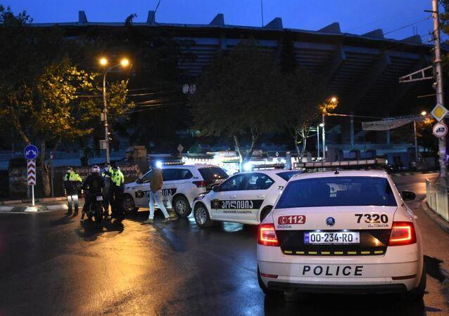 الشرطة الجورجية في مكان احتجاز الرهائن في تبليسي