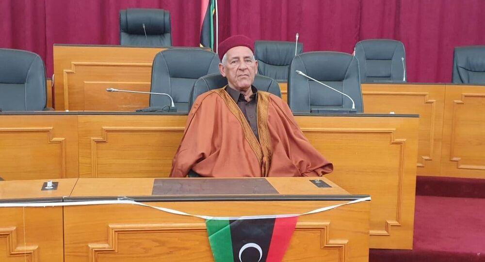 إدريس يحيى أحد أعيان قبائل برقة الليبية
