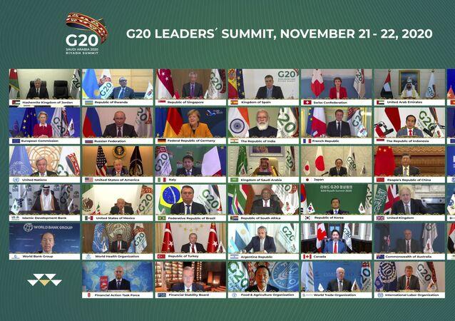 قمة مجموعة العشرين (مجموعة الـ 20) الرياض، السعودية 21 نوفمبر 2020