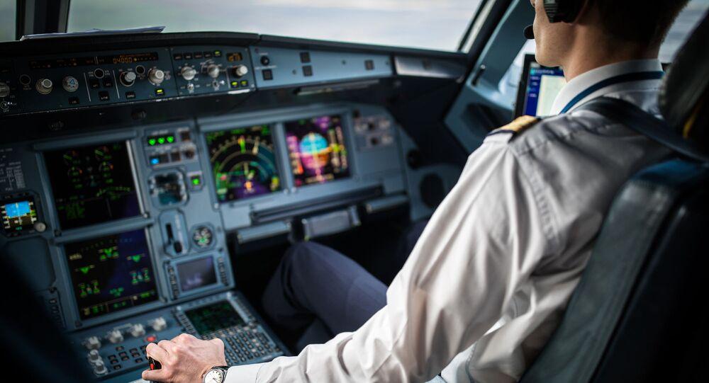 طيار في وقت الإقلاع