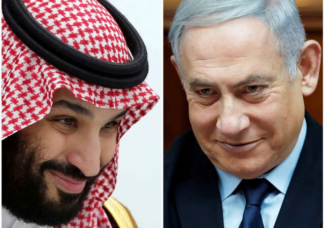 ولي العهد السعودي الأمير محمد بن سلمان مع رئيس الوزراء الإسرائيلي بنيامين نتنياهو