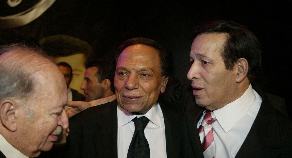 الفنانان المصريان سعيد صالح وعادل إمام
