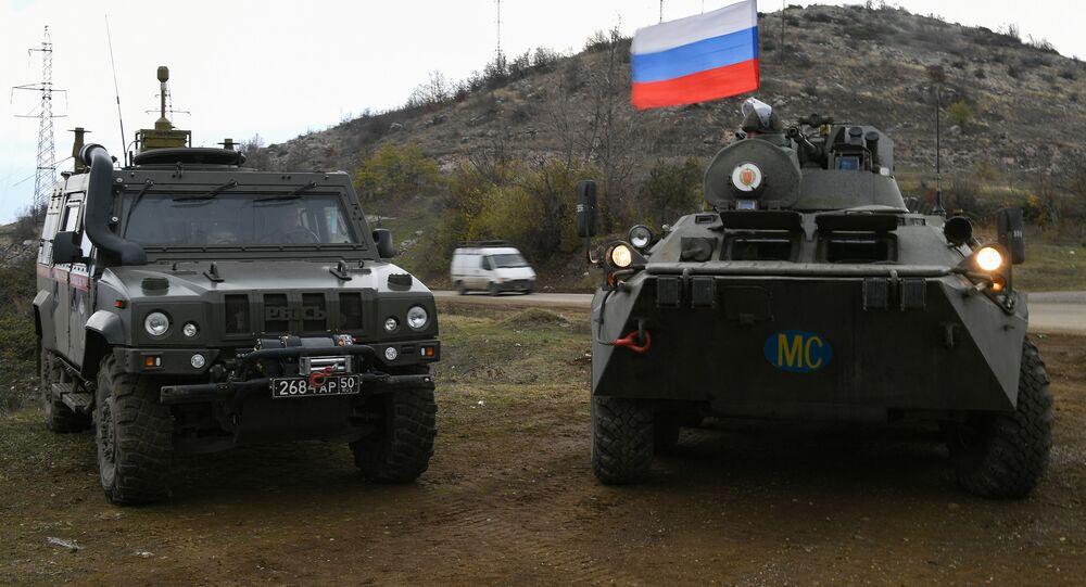 قوات حفظ السلام الروسية في مناطق ناغورني قره باغ، 23 نوفمبر 2020