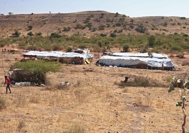 تداعيات التصعيد العسكري في منطقة تيغراي - لاجئون، إثيوبيا 18 نوفمبر 2020