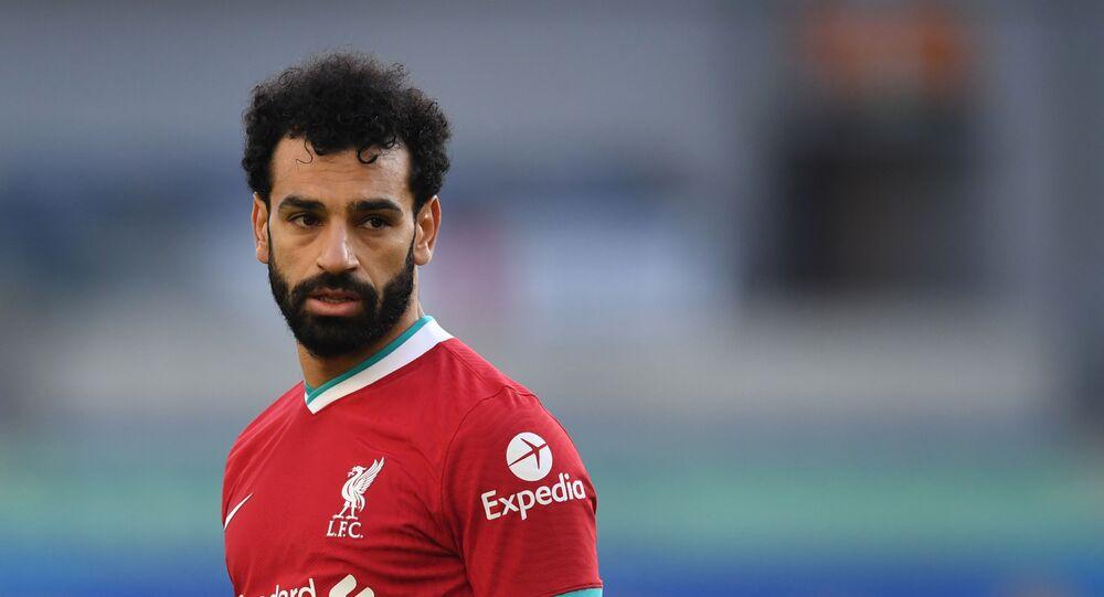 اللاعب المصري الدولي، محمد صلاح، في مباراة ليفربول ضد برايتون، 28 نوفمبر/ تشرين الثاني 2020