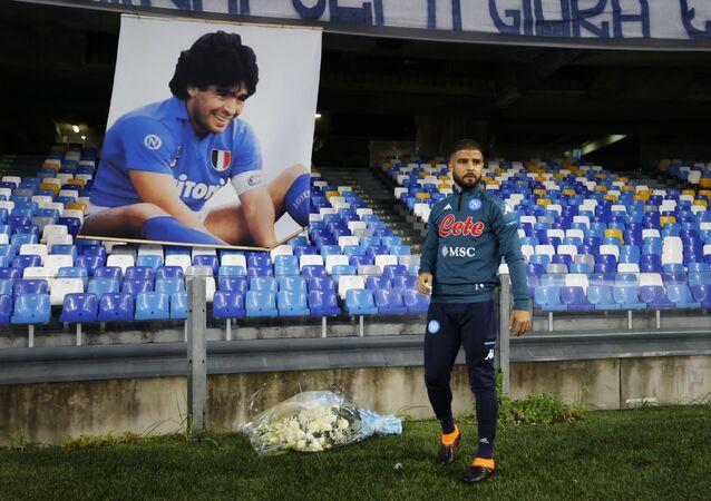 تكريم مارادونا في مباراة نابولي وروما