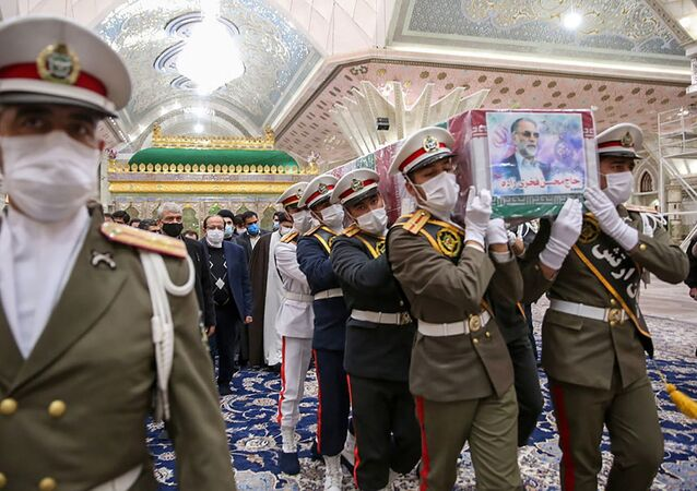 مراسم دفن العالم النووي والدفاعي الإيراني محسن فخري زاده، طهران، إيران 29 نوفمبر 2020