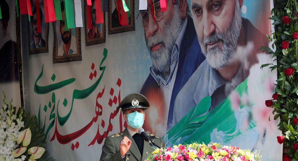 مراسم دفن العالم النووي والدفاعي الإيراني محسن فخري زاده، طهران، إيران 30 نوفمبر 2020