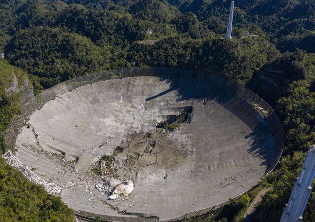 مرصد أريسيبو بعد الانهيار