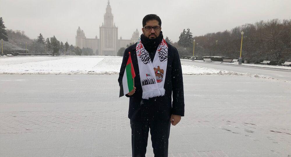 السفارة الإمارتية في موسكو تحتفل بالعيد الوطني - السفير الإماراتي محمد أحمد الجابر