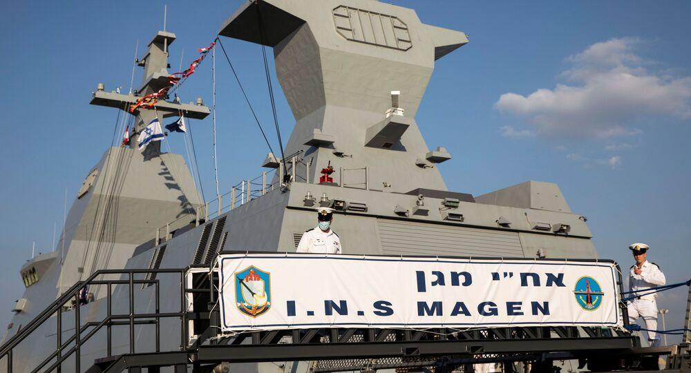 بحارة إسرائيليون على متن السفينة الجديدة ساعر-6 من طراز كورفيت، في القاعدة البحرية الإسرائيلية في حيفا، شمال إسرائيل، 2 ديسمبر 2020.