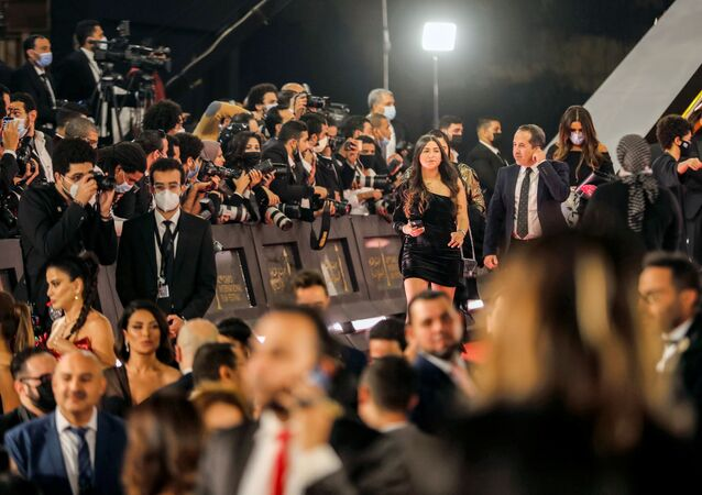 حفل افتتاح مهرجان القاهرة السينمائي الدولي الـ42 في دار الأوبرا المصرية، 2 ديسمبر/ كانون الأول 2020، القاهرة