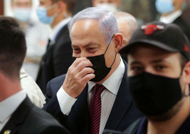رئيس الوزراء الإسرائيلي بنيامين نتنياهو في الكنيست، القدس 2 ديسمبر 2020