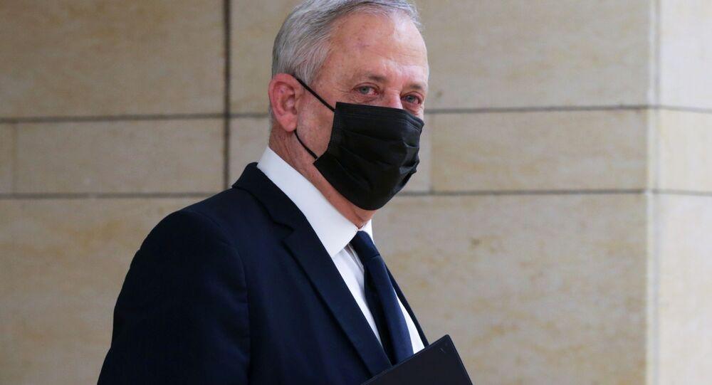 وزير الدفاع بيني غانتس في الكنيست، القدس 2 ديسمبر 2020