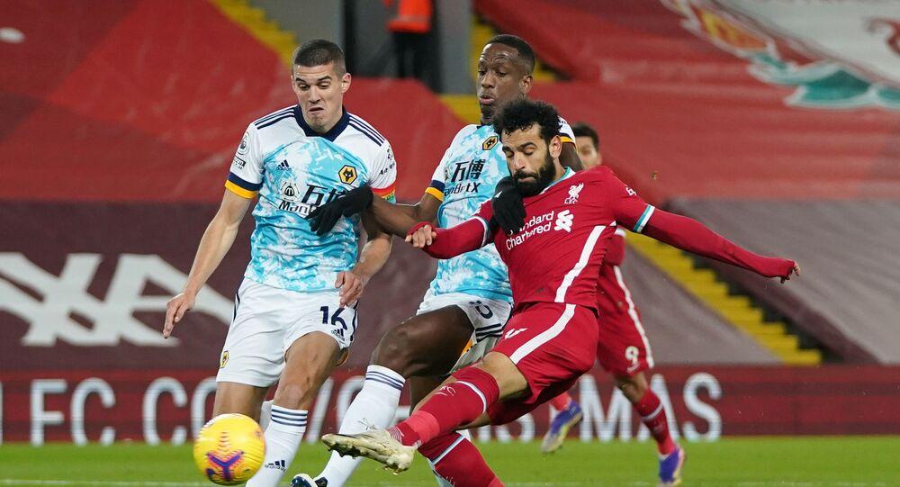 محمد صلاح يتألق ويسجل في مباراة ليفربول وولفرهامبتون