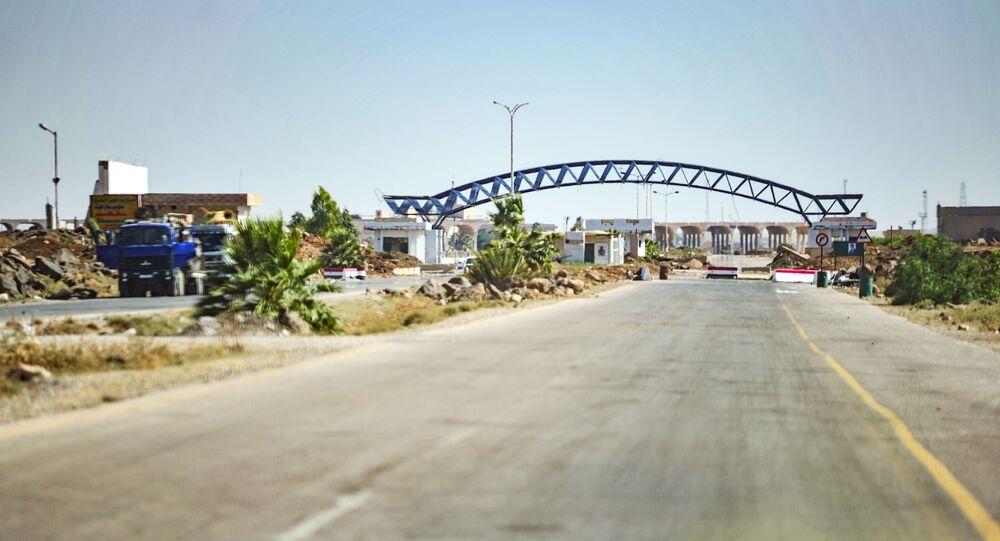 الشاحنات السورية المتوجهة إلى دول الخليح عبر الأردن