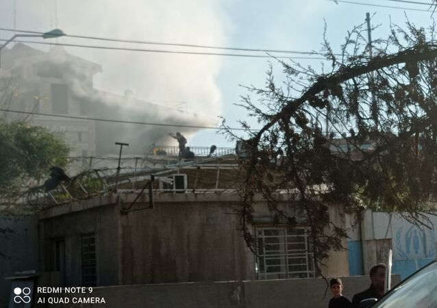 اندلاع حريق في مفوضية اللاجئين شرقي سوريا