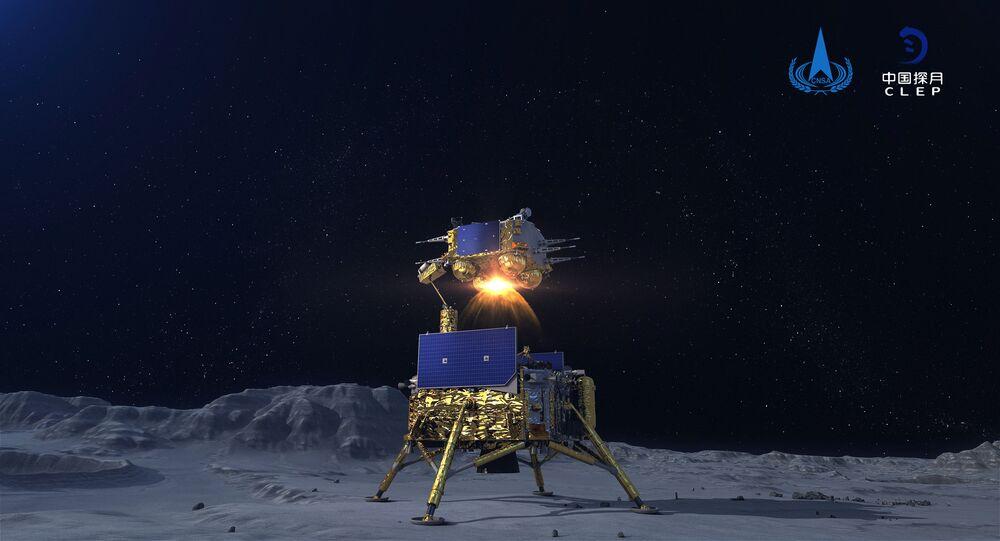 مسبار فضائي تشانغ آه-5 لجمع عينات من القمر وإعادتها، الصين 3 ديسمبر 2020