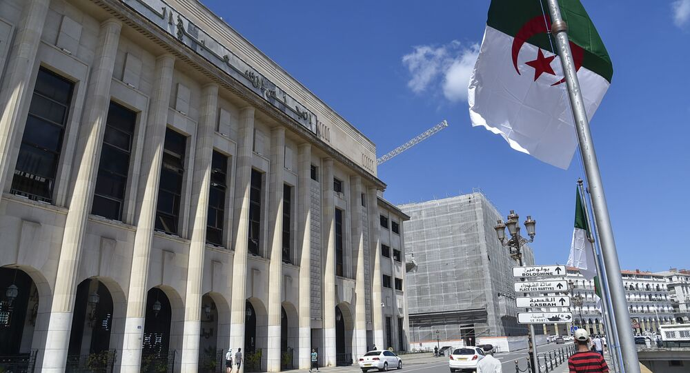 صورة من أمام المجلس الشعبي الوطني بالجزائر بتاريخ 10 سبتمبر/ أيلول 2020