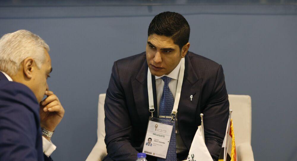 أحمد أبو هشيمة رجل الأعمال المصري عضو مجلس الشيوخ