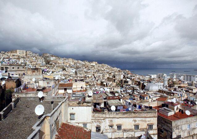 صورة جوية التقطت في 14 فبراير 2003 لشرفات قصبة الجزائر العاصمة