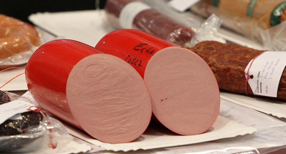 تصوير النقانق في المعرض الدولي لصناعة اللحوم بألمانيا