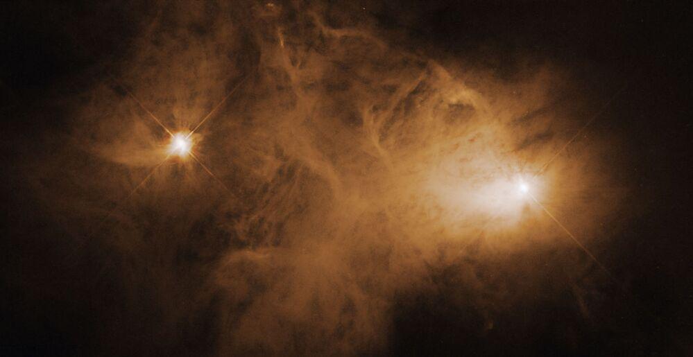 التقط تلسكوب هابل هذه الصورة لسديم الانعكاس الضبابي كالدويل 68 باستخدام كاميرا المجال العريض وكاميرا كوكبية واسعة المجال 2.