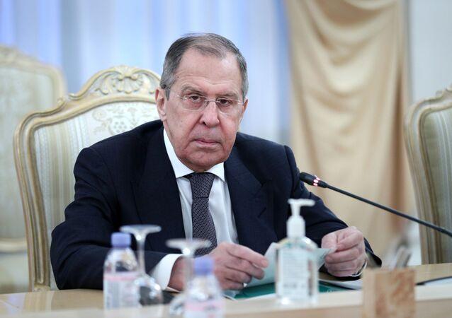 اجتماع وزيري الخارجية الروسي سيرغي لافروف والسوري فيصل المقداد في موسكو، روسيا 17 ديسمبر 2020