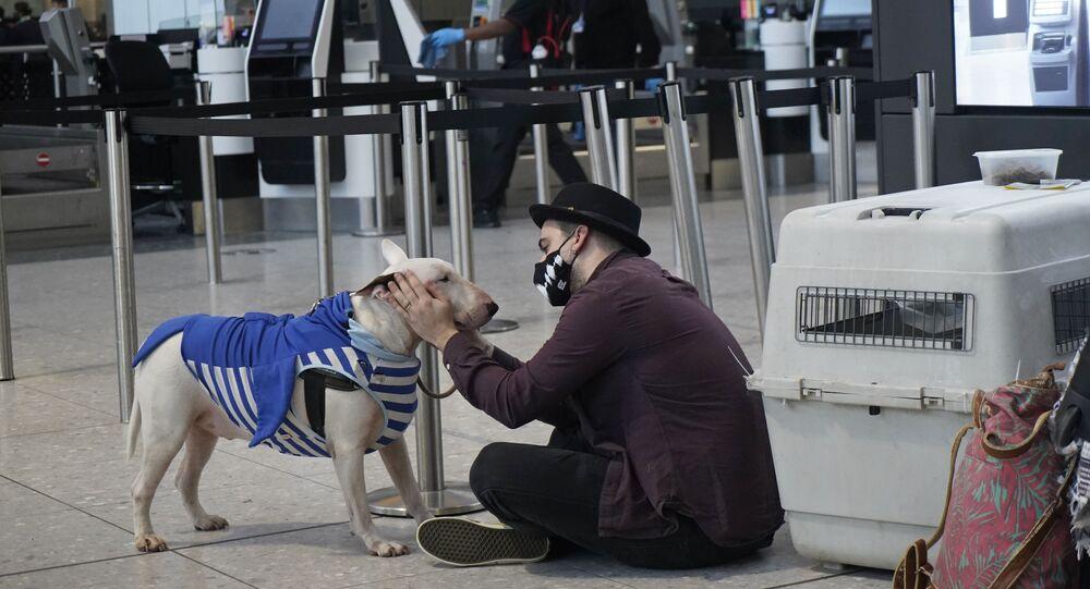 الوضع في بريطانيا مع ظهور سلالة كورونا الجديدة - مطار هيثرو في لندن، إنجلترا 21 ديسمبر 2020