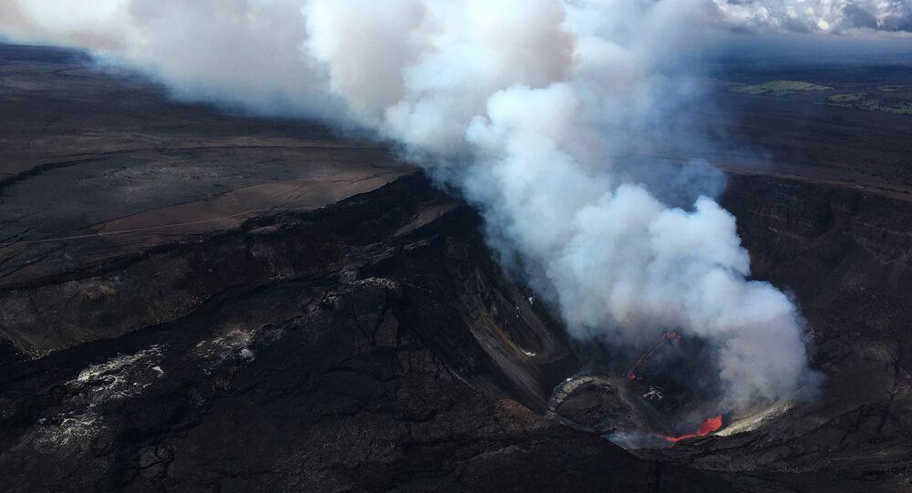 ثوران بركان كيلويا في جزيرة هاواي الكبيرة، 21 ديسمبر 2020
