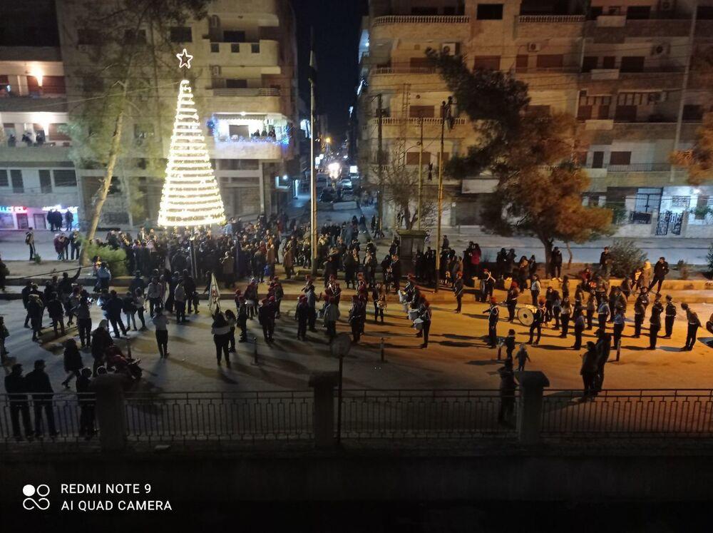 السريان وعيد الميلاد في دمشق، سوريا 23 ديسمبر 2020