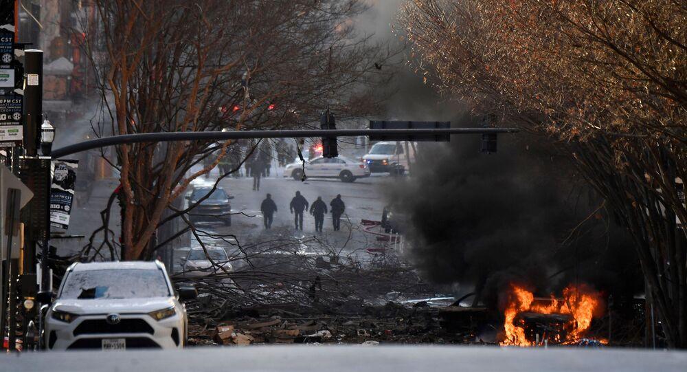 انفجار وسط مدينة ناشفيل، الولايات المتحدة الأمريكية 25 ديسمبر 2020