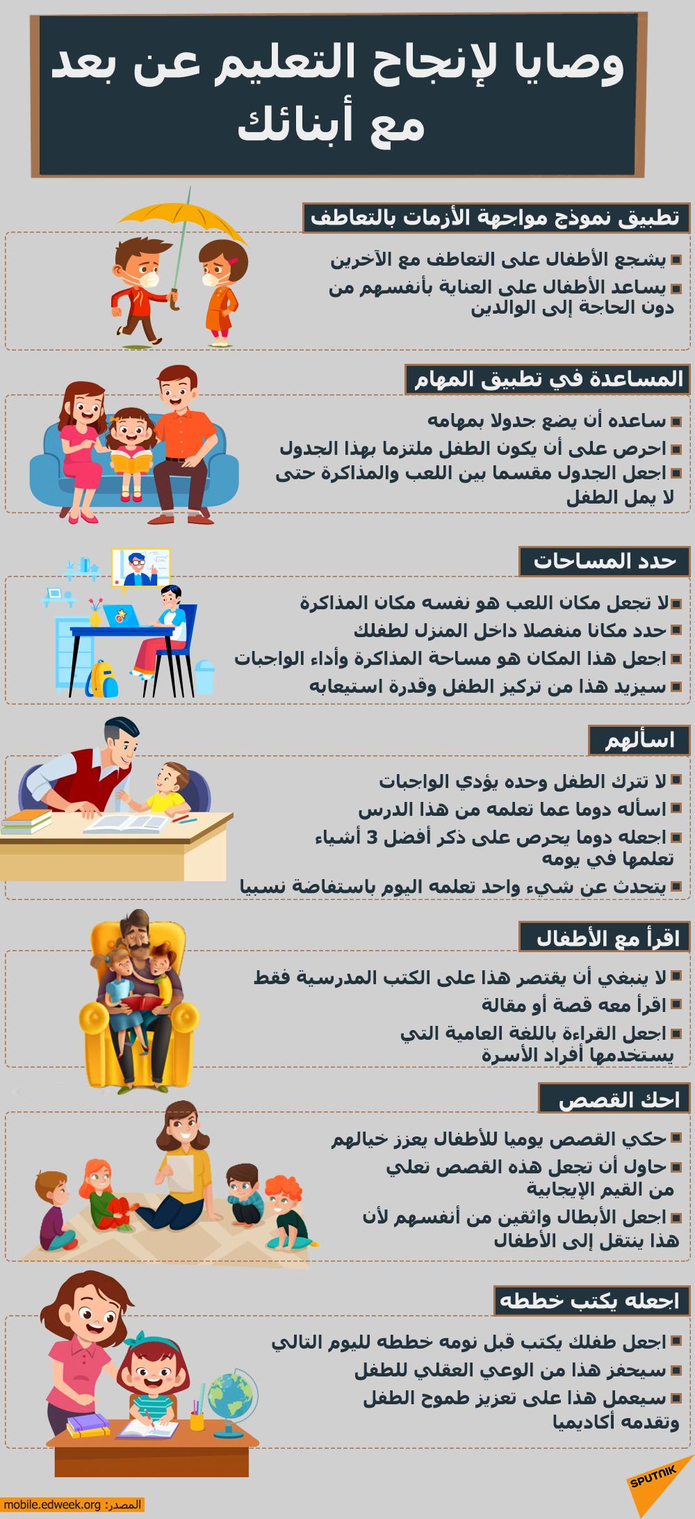 وصايا لإنجاح التعليم عن بعد مع أبنائك
