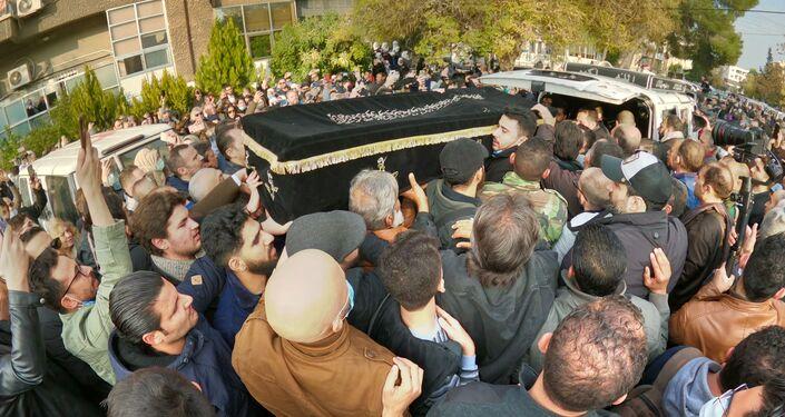 تشييع جنازة المخرج السوري حاتم علي في دمشق
