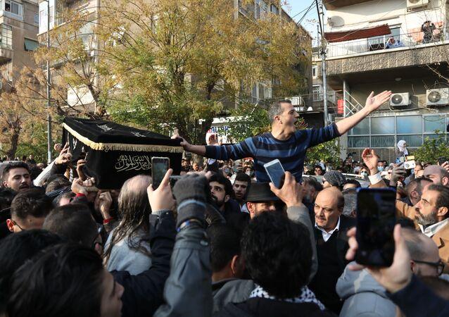 توديع جثمان الراحل المخرج السوري حاتم علي