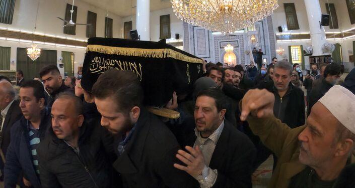 جنازة الراحل المخرج السوري حاتم علي في دمشق