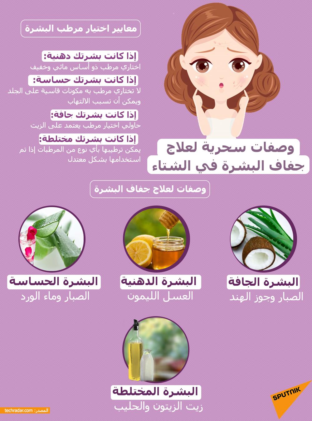 وصفات سحرية لعلاج جفاف البشرة في الشتاء