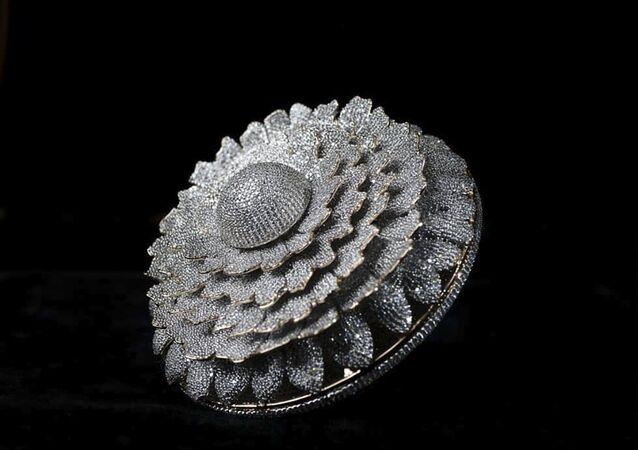 خاتم ماريغولد من الهند الذي يضم 12638 ماسة ويزن ما يزيد قليلا عن 165 غراما