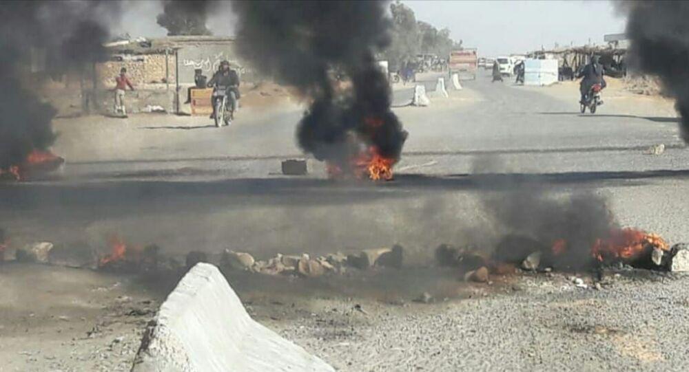 انفجار صهريج نفط في دير الزور