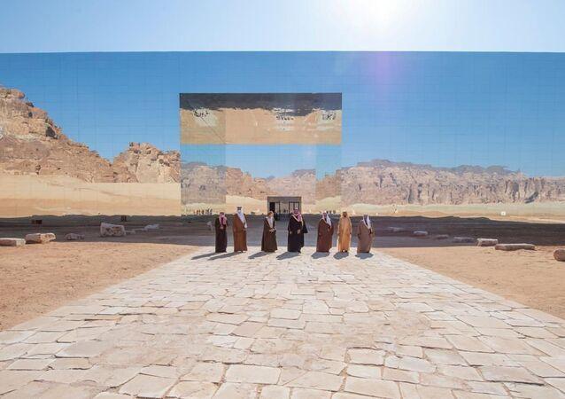 اجتماع قادة الخليج في وجود أمير قطر في محافظة العلا السعودية