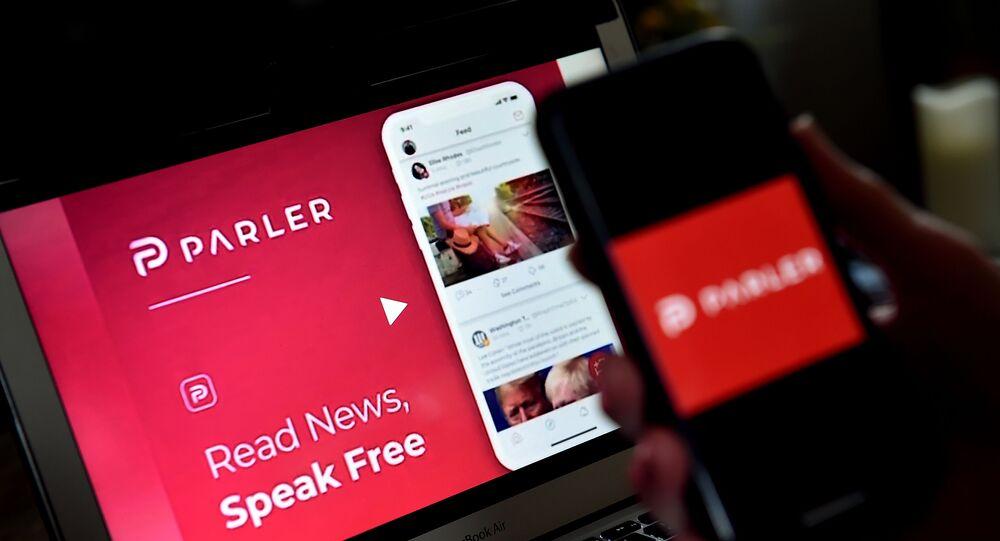 صورة توضيحية لشعار تطبيق الوسائط الاجتماعية بارلير