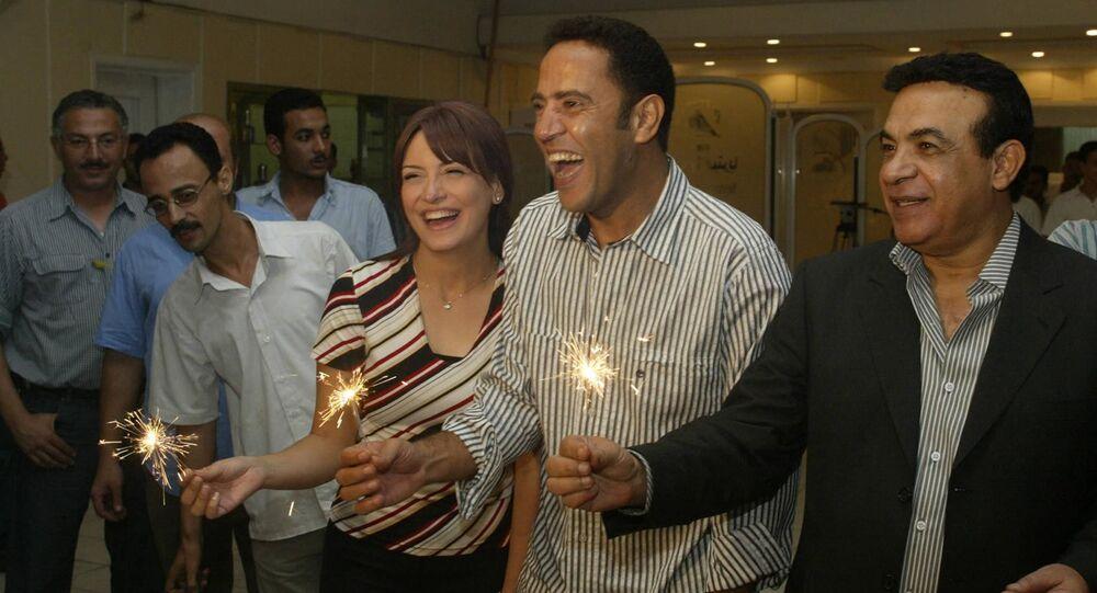 الفنان المصري، هادي الجيار مع الفنانين أشرف عبد الباقي وريهام عبد الغفور في عام 2005
