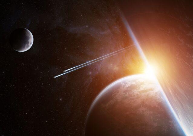كوكبان وقمر