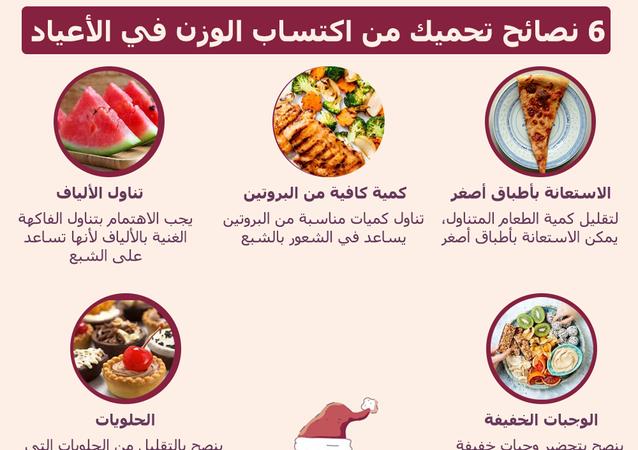 6 نصائح تحميك من اكتساب الوزن في الأعياد