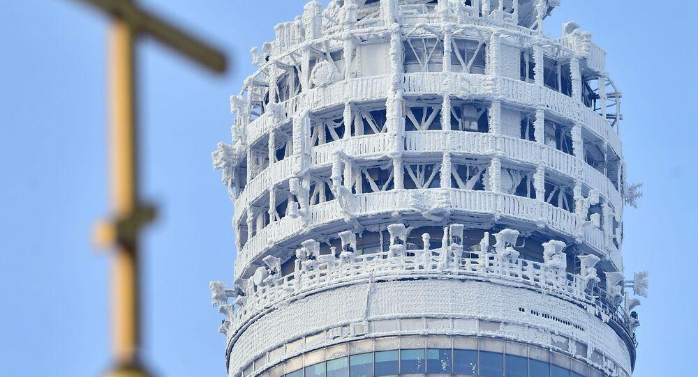 برج أوستانكينو للبث التلفزيوني في موسكو