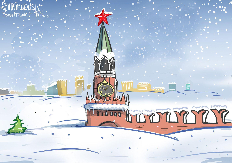 موسكو تغرق في الثلوج الكثيفة